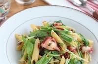 絶品おつまみ♪たこと水菜のイタリアンペンネ