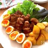 煮卵もお野菜も美味しい♡柔らか豚肩ロース塊肉のこくうまダレ