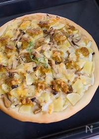 『スパイシーツナとポテトのクリームピザ』