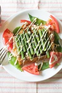 厚揚げのガレット風サラダ仕立て【低糖質】