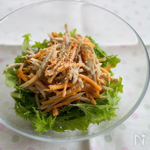 『ごぼうとにんじんの味噌マヨサラダ』#お弁当#作り置き