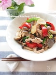 作り置き。豚肉とこんにゃくのガーリック麺つゆマリネ