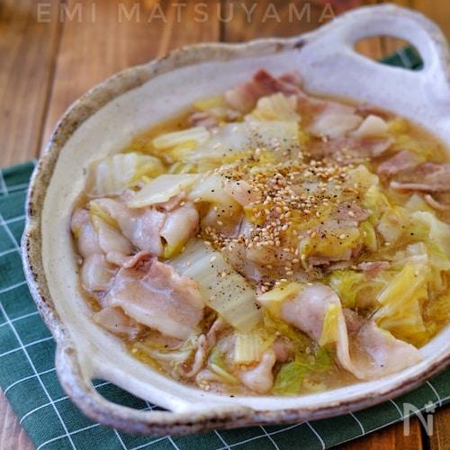 レンジで出来ちゃう!*豚バラ白菜の旨とろ煮*無水調理