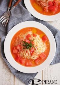 『フレッシュトマトソースの冷製パスタ♪』
