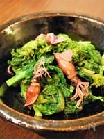 菜の花とホタルイカの蒸し炒め
