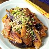 とろっと美味しい♪豚バラとなすの生姜焼き