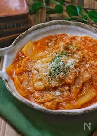 『*白菜とツナの洋風とろみケチャップ煮*』
