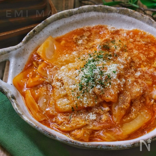 *白菜とツナの洋風とろみケチャップ煮*