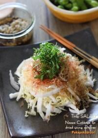 『ちりめんじゃこと白菜の簡単和風サラダ』