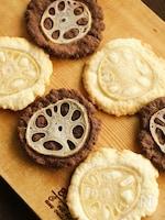 2色のれんこんクッキー