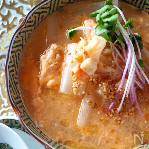電子レンジで簡単!!大根と貝柱のとろとろとろみスープ