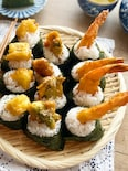 ☆アレンジ天むす☆カマンベールチーズ・ささみ大葉・えび