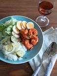 海老のサンバルソースとすだちご飯