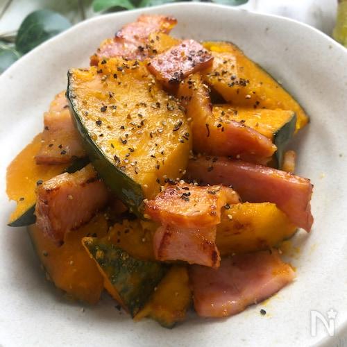『かぼちゃとベーコンのうま塩炒め』副菜に♩