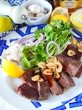 【冷凍肉をジューシーに】サーロインステーキメイプルバター醤油