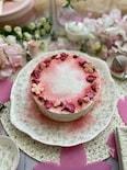 ほんのり桜香るふんわりなめらかレアチーズケーキ