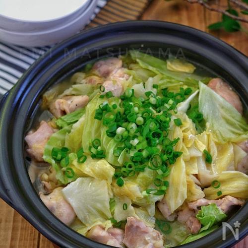 *鶏肉とキャベツの無水蒸し鍋*
