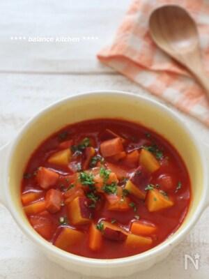 さつまいものトマトスープ 煮込まなくても酸味無し
