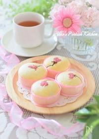 『春爛漫♡桜のホワイトカップケーキ♪お花見スイーツ 』