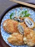 サクッじゅわー♡旨味たっぷり♡鶏胸肉の海苔チーフライ♡