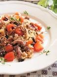 NY・デリ風☆野菜と肉の玄米ナッツサラダ
