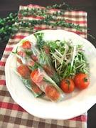 切って和えるだけ♪アレンジいろいろ!水菜のナムルサラダ
