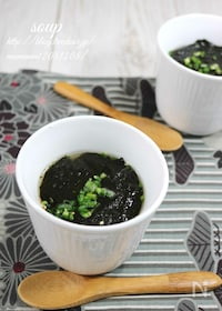 『味付け海苔で、簡単和風海苔スープ。』