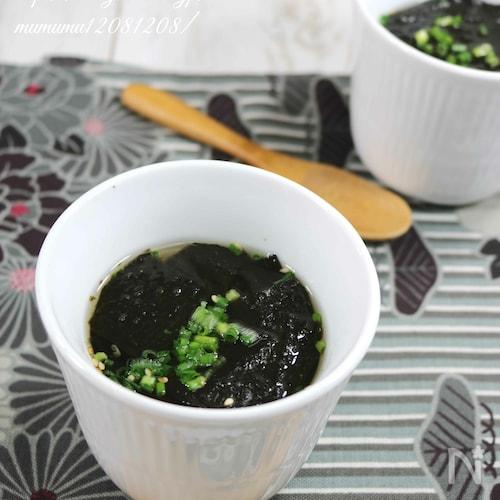 味付け海苔で、簡単和風海苔スープ。