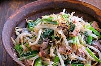 小松菜ともやしとサバ缶の塩昆布マヨ和え