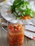 アマニで作るトマトたまねぎドレッシング