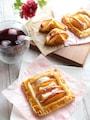 りんごとカマンベールチーズパイ