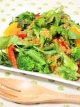 醤油麹ドレッシングde彩り野菜のサラダ