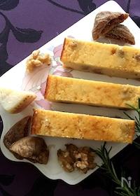 『香り最高❤︎混ぜて焼くだけ簡単!『パルミジャーノチーズケーキ』』