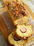 キャベツとチーズと魚肉ソーセージの食事ケーキ