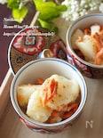 蒸し長芋と鮭の山椒和え