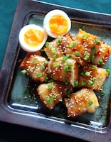 ご飯が進む◎甘辛だれの肉巻き厚揚げ(レンジ4分/調味料3つ)