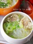 市販シュウマイで簡単!白菜と春雨のおかずスープ