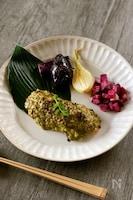 【お魚料理】シャケの木の芽味噌ネーズ焼き