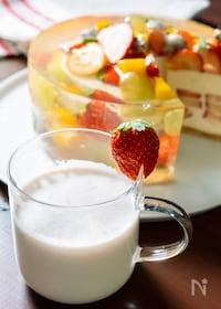 『ジャムで作る♡練乳いちごミルク』