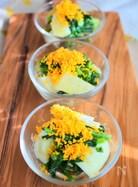 菜の花と新じゃがのミモザサラダ