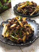 牛肉とじゃがいもとピーマンの炒め物~ご飯が進む青椒肉絲風~