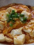 豆腐の卵とじ、キムチ味