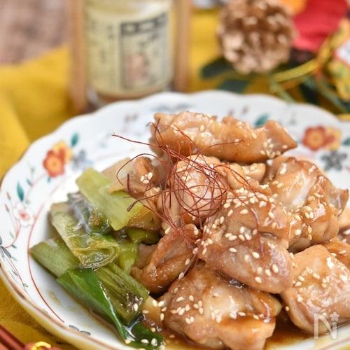 鶏もも肉と長ネギの焼き鶏風【作り置き】