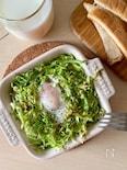 【トースターで3分!】朝ごはんに♡春キャベツの巣ごもり卵
