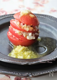『トマトと玉ねぎのミルフィーユ』