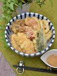 野菜たっぷり鶏天丼