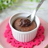 トースターで5分♪フォンダンショコラ風とろけるチョコケーキ♡