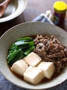 牛肉とニラのすき煮