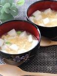 うどんスープで3分で完成!ふわふわはんぺんと卵のとろみスープ