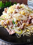 レンジで調理♪豚肉と豆もやしと長ねぎのおかず・ナムル